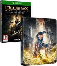Deus Ex: Mankind Divided Steelbook Edition - Only at GAME (Xbox One) £9.99 Delivered @ GAME