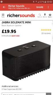 Jabra Solemate Mini, £60 off now £19.95 @ Richer Sounds (C&C only)