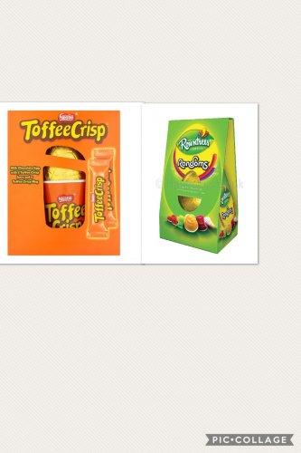 Toffee crisp easter egg & randoms easter egg only £2 each at poundland (currently £4 each or 3 for £10.00 at asda & tesco)
