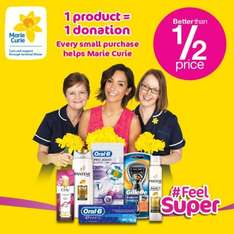 Better than half price items starting as low as 99p...these Products also Donate To Marie Curie #FeelSuper campaign...(see description for details) @ Superdrug
