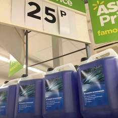 all seasons screenwash 5l 25p instore Asda (West Bridgford)