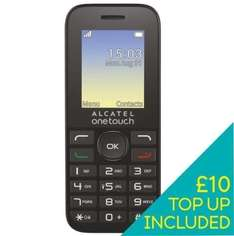 £10.00 PAYG credit + FREE Alcatel 10.16 mobile phone on EE pay as you go - ebay /  ee-uk-shop