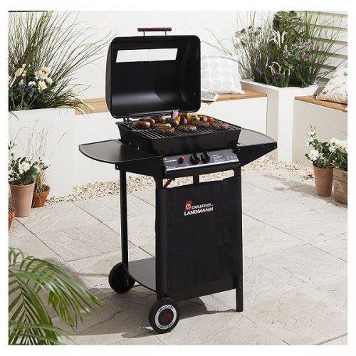 Landmann Grillchef 2 Burner Gas BBQ, Black from Tesco for £50 free C+C