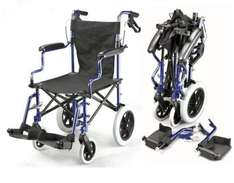 Lightweight folding deluxe travel wheelchair in a bag with handbrakes @ fenetic_trading  ebay - £89.99