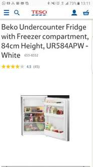 Beko Undercounter Fridge with Freezer UR584APW - £135.20 (with voucher code) - Tesco