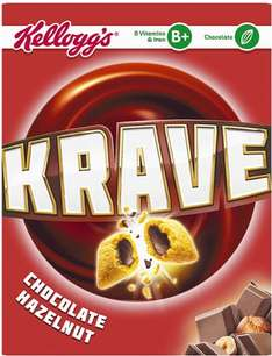 Kellogg's Krave Chocolate Hazelnut (375g) was £2.68 now £1.34 @ Iceland