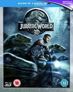 Jurassic World (3D Edition + Digital Copy) [Blu-Ray] (with code) at Zoom - £2.69
