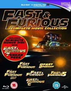Fast & Furious 1-6/Fast & Furious 7 Sneak Peek (Box Set with UltraViolet Copy) [Blu-ray] (with code) £8.99 at Zoom