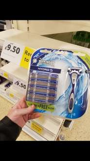 Wilkinson sword hydro 5, shaver and 12 blades! TESCO was £25 now £9.50!!