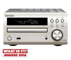 Denon DM40 silver mini hi-fi with DAB now £149.00, in-store only at Richer Sounds