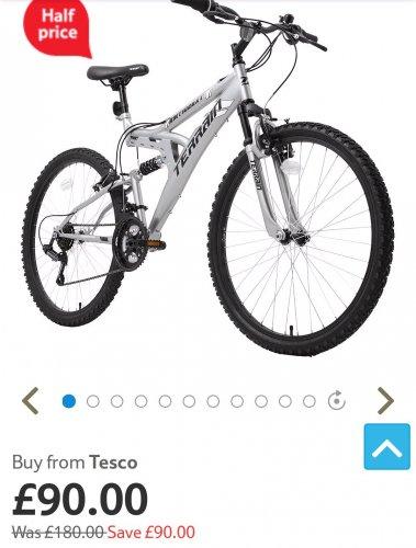 50% Off Selected Terrain Mountin bikes @ Tesco Direct