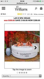 Laz-E Spa Vagas £299- £252 if your a new customer from JD Williams