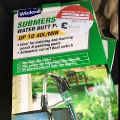 Wickes Water Butt Pump - £8.50 instore