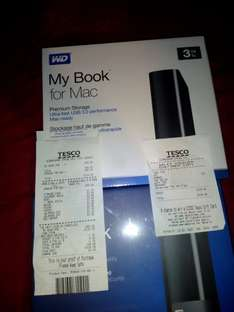 My Book Mac 3TB (£50) & My Book 3TB (£53) instore @ Tesco (Birmingham)