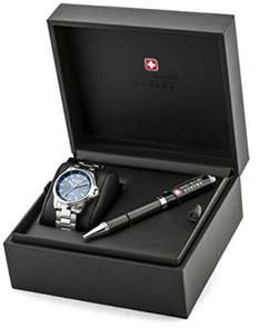 Swiss Military Hanowa Men's Watch Gift-Set complete with a ball point pen £60.96 @amazon