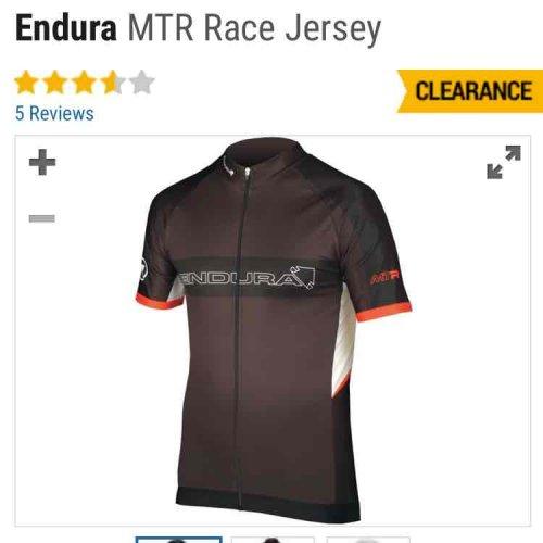 endura sale incl. MTR Jersey black or white S-XL £23.99 @ crc chain reaction (mountain bike jersey)