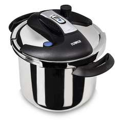 Tower One-Touch Pressure Cooker, 6 L - Stainless Steel  Amazon £39.49 @ Amazon