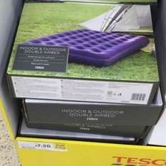 double air bed £7.50 at Tesco instore