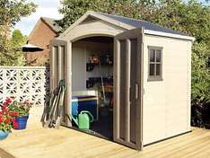 Keter Double Door Plastic Apex Shed 8x6 £424.99 at Wickes