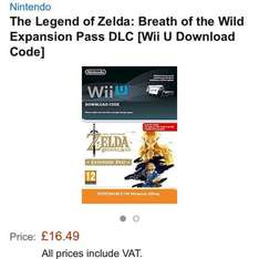 (Wii U & Switch) The Legend of Zelda: Breath of the Wild Expansion Pass DLC [Download Code] @ Amazon