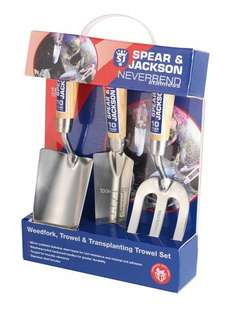 Spear & Jackson Neverbend Stainless Hand Tool Gift Set £11.99 (Prime) @ Amazon