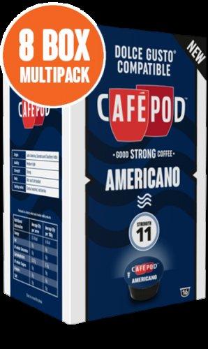 Dolce Gusto compatible - Cafe Pod Americano £24 / £28.95 delivered for 128 pods @ Cafepod