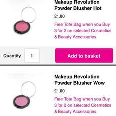 Makeup items from 99p plus 3 for 2 (mix & match) on selected items & FREE tote bag! @ Superdrug