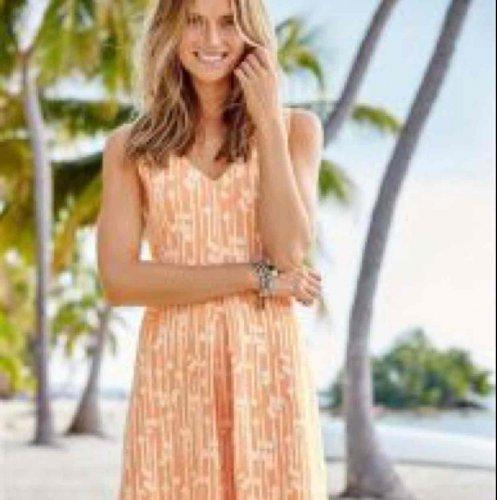 Peach Floral Jacquard Dress was £32 now £8 @ Next