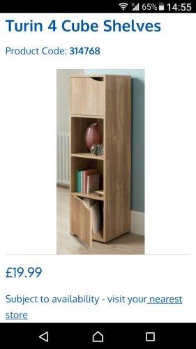 storage unit - £19.99 instore @ B&M