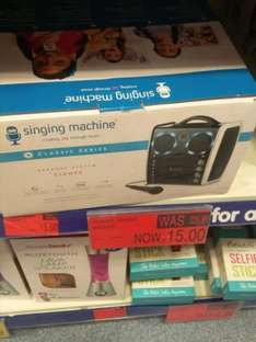 Karaoke Singing Machine CD PLAYED Mic - £15 instore @ B&M
