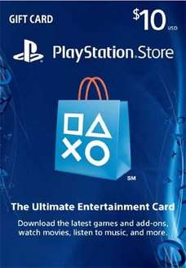 $10 PSN Card £5.56 @ pcgamesupply