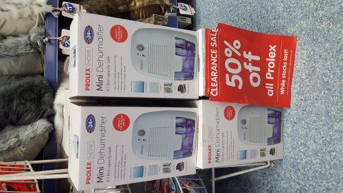 Prolex dehumidifier 500ml £12.50 instore @ B&M