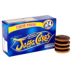 Mcvities Jaffa Cakes Twin Pack 2X150g was £2.19 now £1 at Tesco
