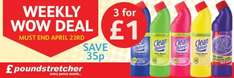 Poundstretcher Weekly WOW Deal 3 x 750ml Bleach £1.