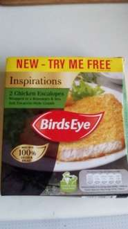 Birds Eye Inspirations 2 Ciabatta-Style Crumb Chicken Escalopes (260g) ONLY £1 @ farmfoods