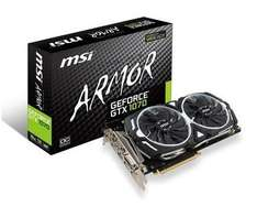 MSI GeForce® GTX 1070 ARMOR 8G OC Graphics Card £333.49 after £25 cashback from MSI at box.co.uk