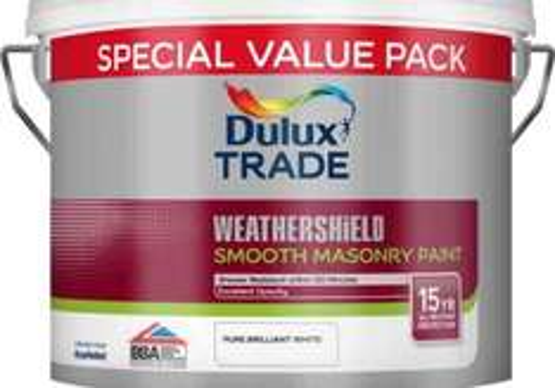 Dulux Weathershield Masonry paint 7.5ltr £22.80 @ Travis Perkins C&C
