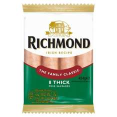 Richmond 8 Thick Pork Sausages 95p @ Iceland (7 Day Deal)
