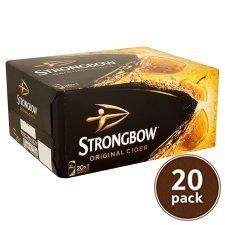 Tesco - Strongbow Cider 20x440ml for £11.00 - Drinks Festival