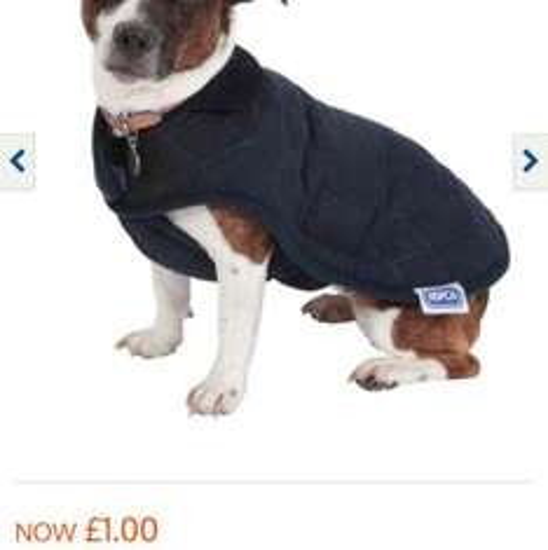 RSPCA Dog Coats £1 instore @ B&M