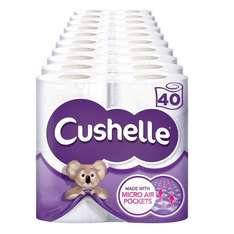 Cushelle Toilet Roll 40 Pack £9.58 (incl VAT) 24p per roll 24/4 - 14/5 at Costco