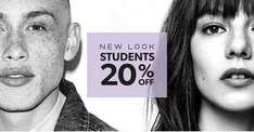 Calling all students - 20% off New Look
