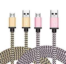 Micro USB Cable 2 Pack (6ft / 1.8m, Pink & Gold) £3.99 prime / £7.98 Sold by BeneStellar Inc and Fulfilled by Amazon