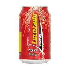 Proper Lucozade 39p for a 330ml can at Home Bargains