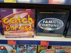 Family Fortunes and Catchphrase board games reduced to £1 instore @ B&M Fareham.