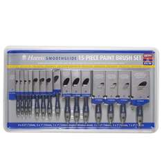 Harris Smoothglide Paint Brush Set 15pc now £2 instore @ B&M
