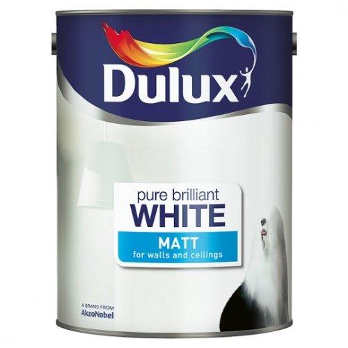 Dulux White Matte Emulsion 5 Litre £10 @ Tesco Grocery