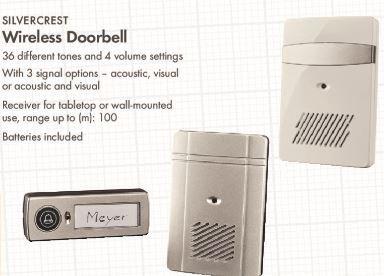 Wireless Doorbell - £6.99 LIDL (Silvercrest) - 3 Year Warranty