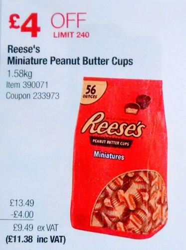 Reese's 56 Miniature Peanut Butter Cups INSTORE £11.38 @ Costco