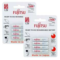 Fujitsu (same as Eneloop - holds 70% charge for 5 years, made in Japan) Ready to Use AAA HR03 NiMH Rechargeable Batteries 750mAh - 8 Pack £9.99 delivered 7DayShop